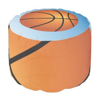バスケットボールアイコン青の背景 プーフ