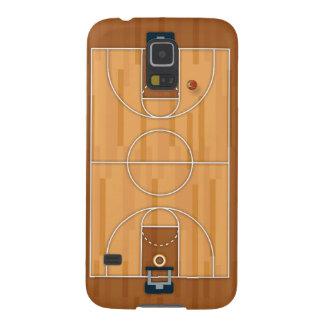 バスケットボールコートピッチのホールの球 GALAXY S5 ケース