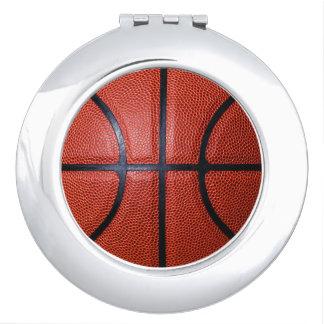 バスケットボールファンの女性のギフトのアイディアのコンパクトの鏡