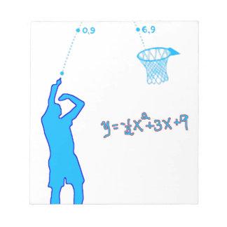 バスケットボール打撃および二次方程式 ノートパッド