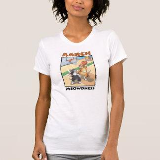 バスケットボール猫の素晴らしいジャージーのTシャツ Tシャツ