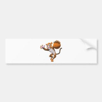 バスケットボール猫 バンパーステッカー
