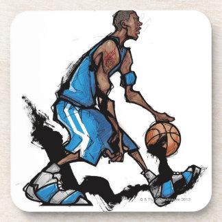 バスケットボール選手のしたたる球 コースター