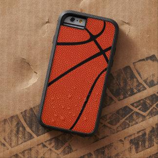 バスケットボール選手のための模造のなバスケットボールの皮の箱 TOUGH XTREME iPhone 6 ケース