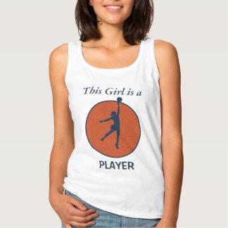 バスケットボール選手の女の子 タンクトップ