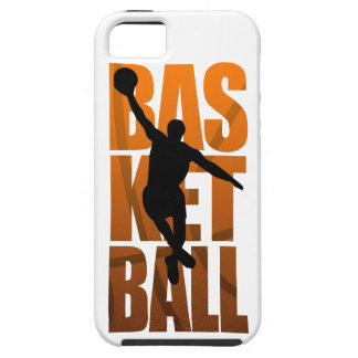 バスケットボール選手のBasketballerの跳躍 iPhone SE/5/5s ケース