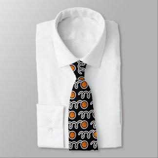 バスケットボール選手またはコーチのためのパターン(の模様が)あるな首のタイ オリジナルネクタイ