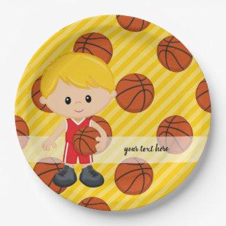 バスケットボール選手 ペーパープレート