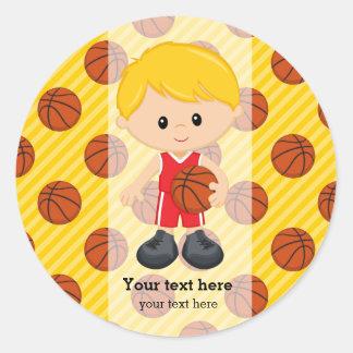 バスケットボール選手 ラウンドシール