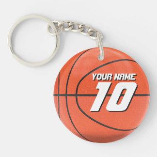 バスケットボール選手 丸型(片面)アクリル製キーホルダー