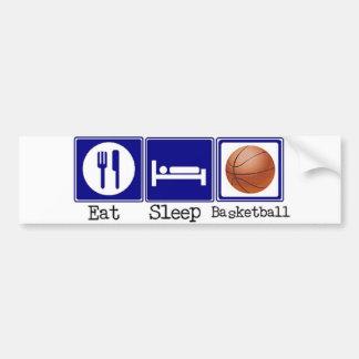 、バスケットボール食べて下さい、眠らせて下さい バンパーステッカー
