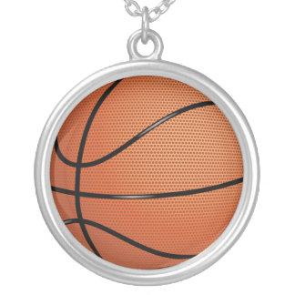 バスケットボール シルバープレートネックレス