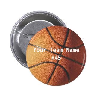 バスケットボール 5.7CM 丸型バッジ