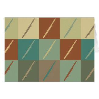 バスーンのポップアート カード