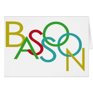 バスーンの手紙 カード