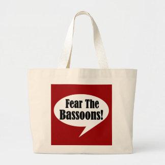 バスーンを恐れて下さい ラージトートバッグ