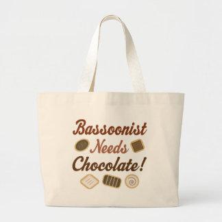 バスーン奏者チョコレート ラージトートバッグ