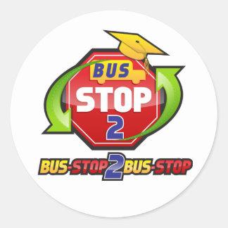 バス停止2バス停止衣類およびAcessories ラウンドシール