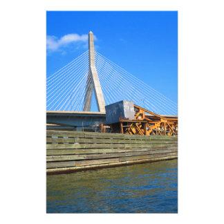 バス旅行からのボストン都市米国アメリカ橋眺め 便箋