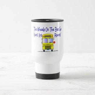 """バス運転手""""バスの車輪"""" トラベルマグ"""