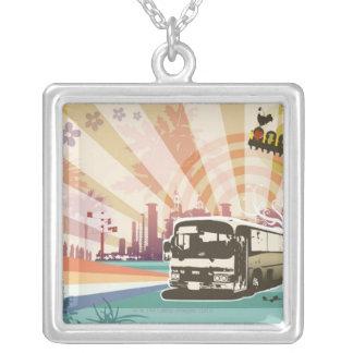 バス シルバープレートネックレス