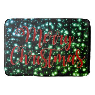 バス・マットのかわいらしいメリークリスマスの星明かりの夜 バスマット