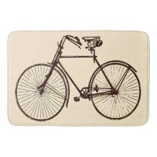 バス・マットのオートミールのクリームの茶色の   バイクの自転車 バスマット