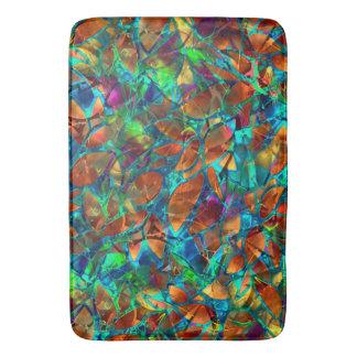 バス・マットの花柄の抽象芸術のステンドグラス バスマット
