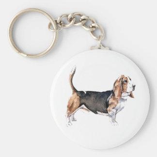 バセットの猟犬のキーホルダー キーホルダー