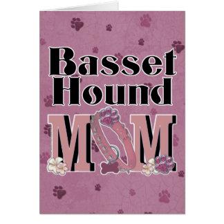 バセットハウンドのお母さん カード
