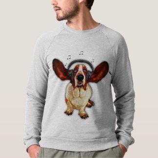 バセットハウンドのアメリカの服装のRaglanのスエットシャツ スウェットシャツ