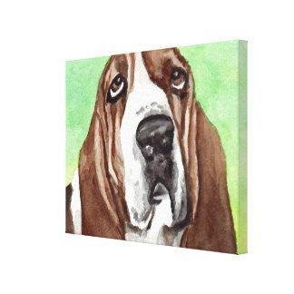 バセットハウンドのキャンバスの芸術のプリント キャンバスプリント