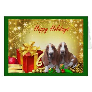 バセットハウンドのクリスマスカードのギフト カード