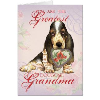 バセットハウンドのハートの祖母 カード