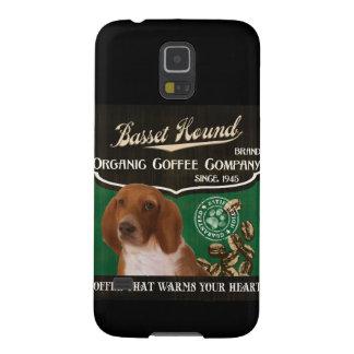 バセットハウンドのブランド- Organic Coffee Company Galaxy S5 ケース