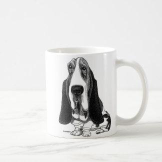 バセットハウンドのマグ コーヒーマグカップ