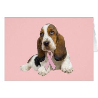 バセットハウンドの乳癌の挨拶状 カード