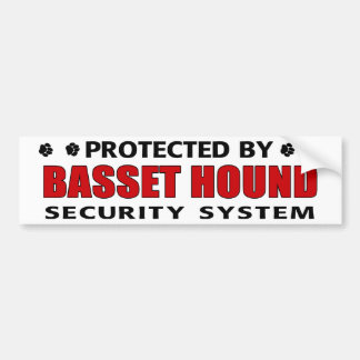 バセットハウンドの保証 バンパーステッカー