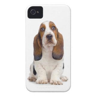 バセットハウンドの子犬のiPhone 4/4Sの場合 Case-Mate iPhone 4 ケース