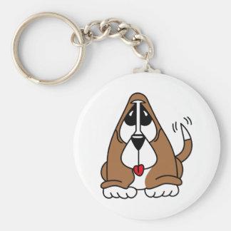 バセットハウンドの子犬 キーホルダー