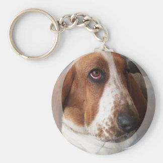 バセットハウンドの子犬Keychain キーホルダー