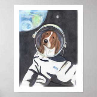 バセットハウンドの宇宙遊泳 ポスター