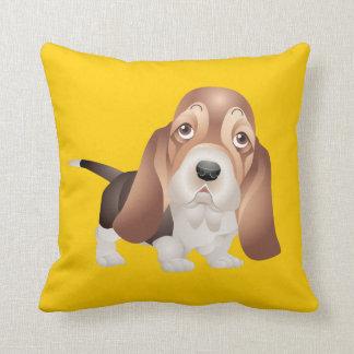 バセットハウンドの小犬の枕 クッション