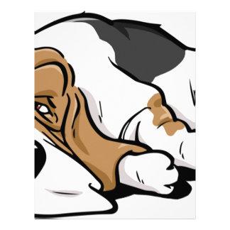 バセットハウンドの漫画犬 レターヘッド