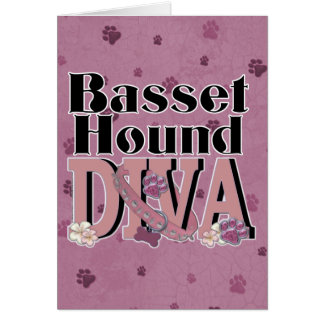 バセットハウンドの花型女性歌手 カード