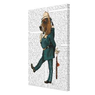 バセットハウンドの警官 キャンバスプリント