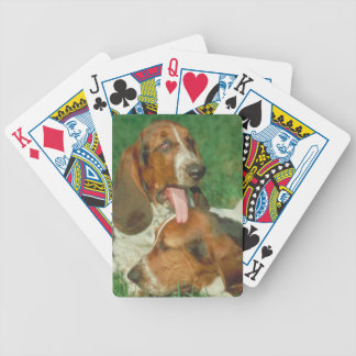 バセットハウンド三色の犬のトランプ バイスクルトランプ