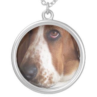 バセットハウンド犬のネックレス シルバープレートネックレス