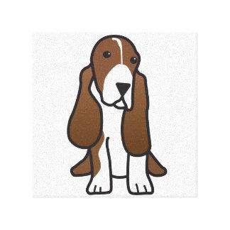 バセットハウンド犬の漫画 キャンバスプリント