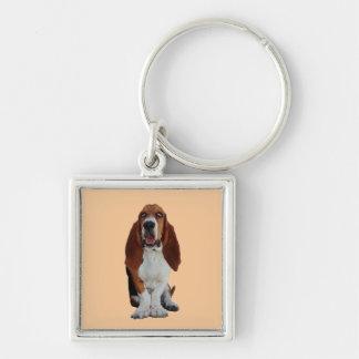 バセットハウンド犬の美しい写真のkeychain キーホルダー